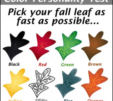 Choose a Colored Leaf as a Personality Test