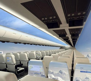 Airplanes of the Future give Passengers a Panoramic View of the Sky