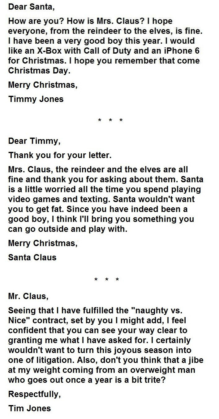 Kid writes angry letter to santa this was santas response 1 spiritdancerdesigns Image collections