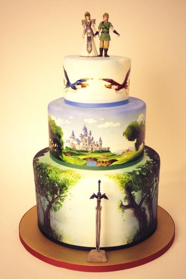 40 Stunning Wedding Cakes For The Kid Inside You