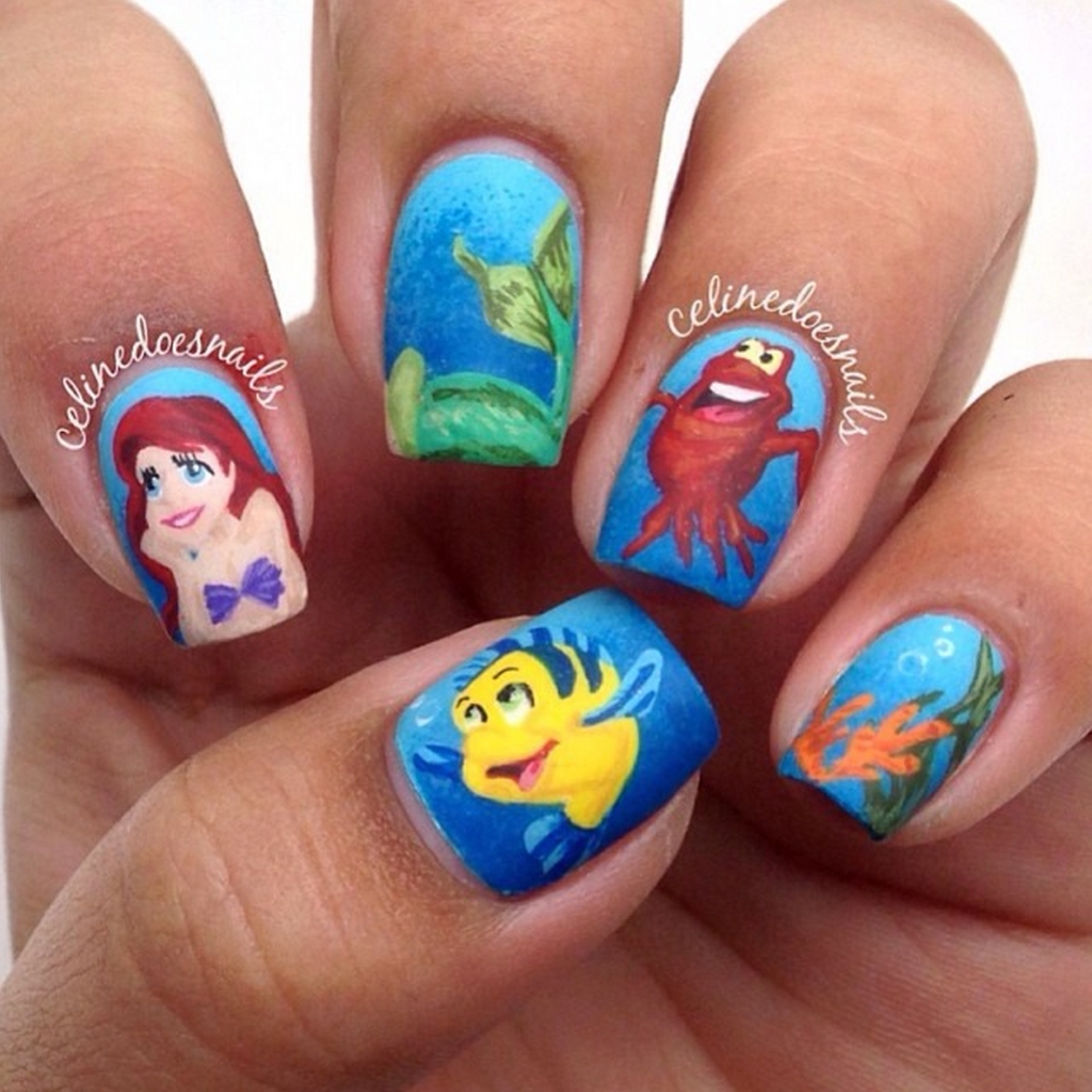 Little Mermaid Nails: 27 Amazing Sets Of Nail Art Design
