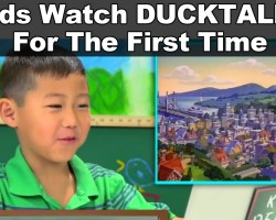 You won't believe how these kids react to watching DUCKTALES