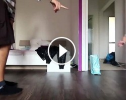 Father and Toddler Have Epic Break Dance Competition