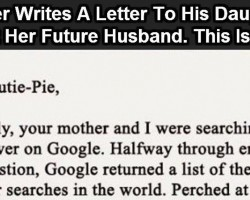 This Dad Wrote A Letter To His Daughter About Her Future Husband. This Is Priceless