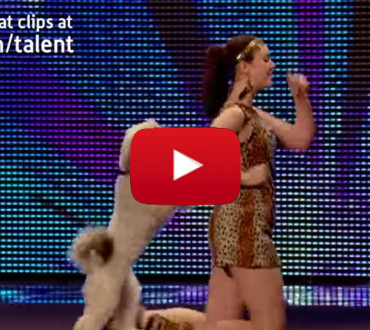 Watch This Woman And Her Dog Bring The Whole Stadium to Their Feet in Applause