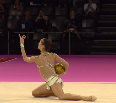 Retired Russian Gymnast Puts on Spectacular Floor Show