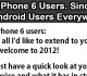 iPhone 6 Users Get Welcomed to 2012 by Android