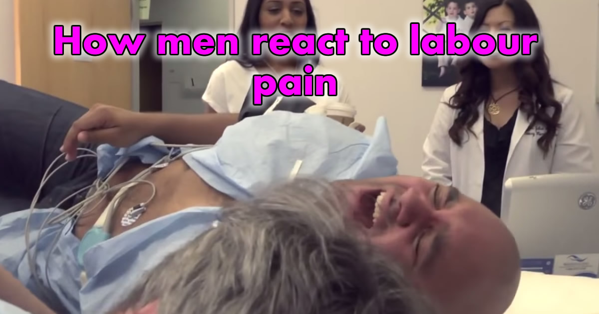 How Men React To Labour Pain