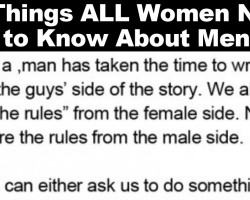 20 Things All Women Need to Know About Men