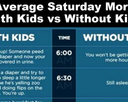 The Difference Between Saturday Morning With Kids vs. Without Kids