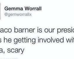 Beautician Bullied for Outrageous Tweet about 'president Barraco Barner'