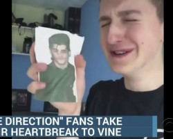 Guy Makes Spoof Video Of His Reaction Zayn Leaving One D. CBS News Aired It Thinking It Was Real