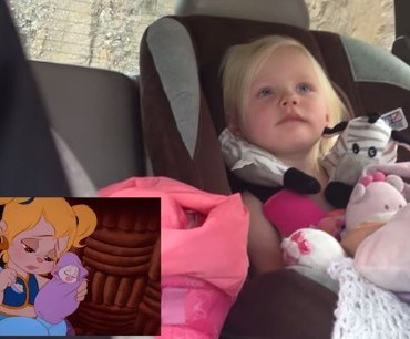 This Toddler Is Watching Her Show In The Car – What She Does Next You Have To See Yourself…