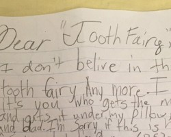 "Dad Finds Harshly Worded Letter to ""Tooth Fairy"" Under His Daughters Pillow"